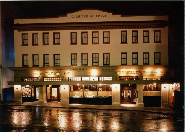 The front of the Gilmore Hotel and Annabelle's Famous Keg and Chowder House