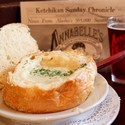 Clam Chowder Bread Bowl - Our home made clam chowder made from a 1927 recipe.