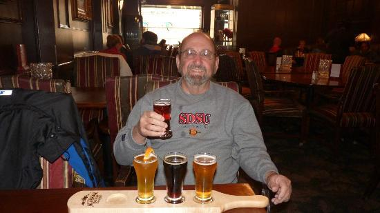 Flight of Alaskan Brewery Beers